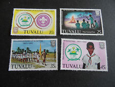 TUVALU 1982 SG 192-195 75TH ANNIV OF BOY SCOUT MOVEMENT MNH