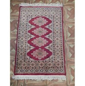 2x3 Authentic Hand Knotted Jaldar Bokhara Multicolor Rug B-77815