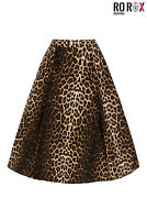 Hell Bunny Panthera Leopard Pin-Up Vintage Retro 1950's Rockabilly Flare Skirt