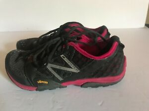 Womens NEW BALANCE MINIMUS Trail Black RUNNING SHOES Sneakers SIZE 7.5 WT20GP