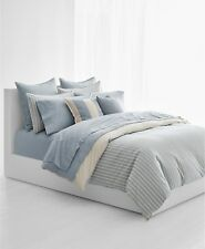 Ralph Lauren Graydon Bold Stripe FULL/QUEEN Duvet Cover Dune/Chambray $285 3B18