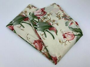 "2 WAVERLY Garden Room/Lane PINK Tulips Window Curtain Panels Rod Pocket 54x42"""