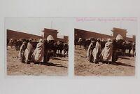 Algeria Laghouat Placca Da Lente Stereo Positivo Vintage PL33L7P