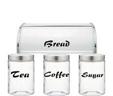 Té, café, azúcar, pan-Tarro de vinilo en las Pegatinas Cocina-conjunto de 4 Calcomanías