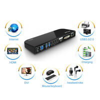 Wavlink USB3.0 Universal Docking Station,Dual Video Monitor Display For Tablets
