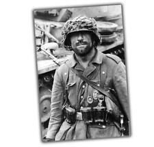 War German private with wound badge and an M43 uniform Panzer badge Photo N
