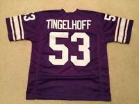 UNSIGNED CUSTOM Sewn Stitched Mick Tingelhoff Purple Jersey - M, L, XL, 2XL
