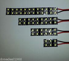 MODEL RAILWAY SCENERY 12V LED STRIP LIGHTS- QUAD DENSITY- BLACK BACKING - BRIGHT