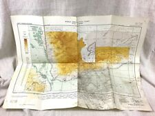 More details for 1964 vintage aeronautical map icao chart bab el mandeb red sea gulf of eden