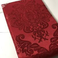 """Jo-Ann Stores Red Christmas Polyester Fabric Tablecloth 60"""" X 84"""" Oblong"""