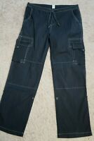 + Womens pants size 12 PRANA faded black stretch cargos, trousers