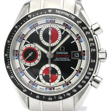 Polished OMEGA Speedmaster Date Steel Automatic Mens Watch 3210.52 BF510646