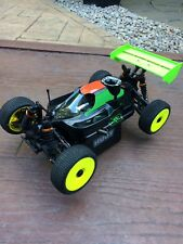 jq the car yellow white black losi Hobao associated 1/8 nitro buggy job lot