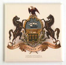 Pennsylvania Coat of Arms FRIDGE MAGNET (3 x 3 inches) state travel souvenir