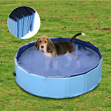 Bañera Piscina Plegable de Mascota Perro Baño Portátil para Animal Diámetro 80cm