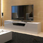 New High Gloss White Plasma LCD LED Lowline Entertainment TV Stand Drawer Unit