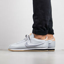 NIKE CLASSIC CORTEZ LEATHER PREMIUM Trainers Gym Casual UK 11 (EUR 46) Wolf Grey