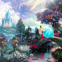 Thomas Kinkade Gallery Wrap Cinderella Wishes Upon A Dream 14x14 Wrapped Canvas