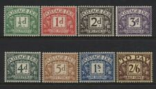 1936-37 ½d-2/6 POSTAGE DUE MOUNTED MINT SET OF EIGHT VALUES. SG D19-26