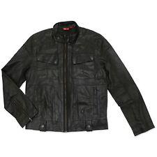 Puma Ducati hombre chaqueta de cuero genuino Negro Motorista NUEVO MOTO CULTO XL