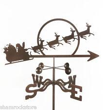 Santa with Sleigh Weathervane - Santa's Christmas Vane - w/ Choice of Mount