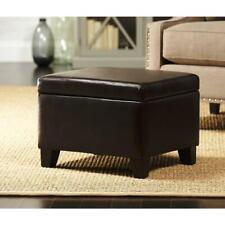 Home Decorators Collection CNF1611 Classic Faux Leather Storage Ottoman