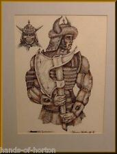 """THE BARBARIAN""  Gladiator Viking Thor -warrior figure hero. comic art drawing."