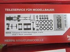 Herpa 082532 LKW Fahrgestell MAN Beton / Kipper 4achs  1:87 H0 NEU in OVP