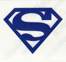 REFLECTIVE Superman Blue auto car decal RTIC window sticker 3.5 inches
