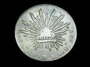Mexiko, 8 Reales, 1887 R.R, Libertad, Freiheitsmütze, Silber, orig., vz.!