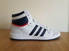 Adidas Originals Mens Top Ten Hi Shoes Trainers White/Blue D65161 UK 10