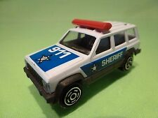 MAJORETTE 224 JEEP CHEROKEE 4x4 - POLICE SHERIFF 999 - 1:60 - GOOD CONDITION