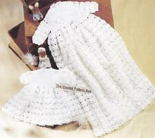 CHRISTENING GOWN & DRESS / birth to 9 months - COPY 3ply - Baby crochet pattern