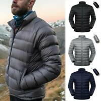 Men's Goose Duck Down Jacket Packable Lightweight Puffer Coat Stand Collar Warm