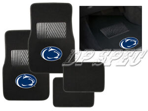 PSU PENN STATE NITTANY LIONS NCAA 4PCS CARPET FLOOR MATS FOR FORD CAR & SUV