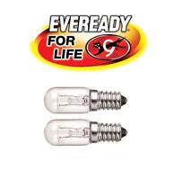 2 X 220-240V 15w Refrigerator Fridge Freezer Appliance SES E14 Bulb Pygmy