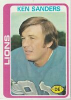 FREE SHIPPING-GOOD-1978 Topps #222 Ken Sanders  Lions PLUS BONUS CARDS
