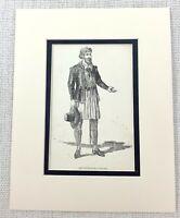 1889 Antico Stampa Dodicesimo Notte William Shakespeare Personaggio Capitano