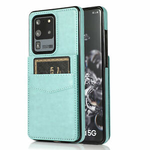 For Samsung Note20 S20 S21 S30+ Ultra S10 9 8+ Leather Card Wallet Case Cover