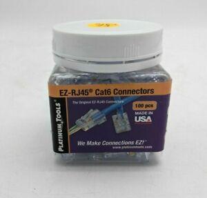 Platinum Tools EZ-RJ45 Cat6 Connectors 100pcs 202010J - SH2689
