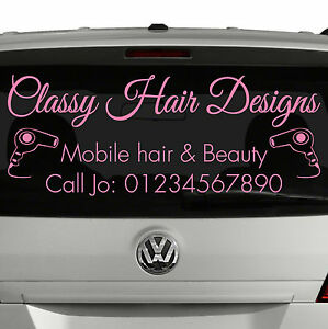 MOBILE HAIRDRESSER Vehicle Window Decal Sign Sticker Business Beauty [S1]