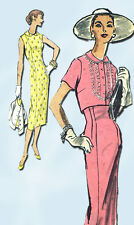 1950s Vintage Vogue Sewing Pattern 8847 Misses Wiggle Dress & Jacket Sz 16 34 B