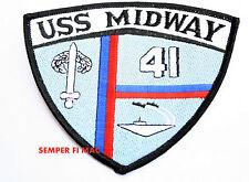 USS MIDWAY CVA-41 AIRCRAFT CARRIER PATCH US NAVY VETERAN GIFT QUILT SAN DIEGO
