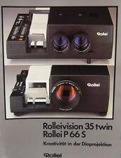 Rolleivison 35 twin Rollei P66S Prospekt brochure - (0395)