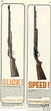 1964 Remington 512-X & 552 .22 Rifle 2 Different Print Ads