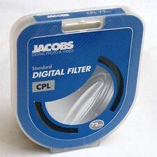 Jacobs digital 72 mm CPL Circulaire Polariseur Filtre Pour Nikon Canon UK Détail £ 49