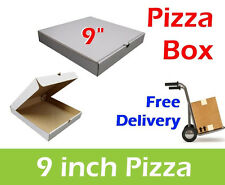 """100 Plain White Pizza Boxes 9"""" Inch Takeaway Box, Pizza Box, Postal Boxes"""
