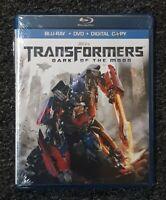 NEW TRANSFORMERS DARK OF THE MOON (2011 BLU-RAY + DVD + DIGITAL COPY 2-DISC SET)