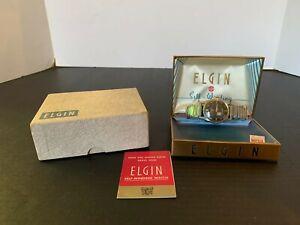 Vintage Elgin Self Winding Shockmaster Men's Wrist Watch With Original Box