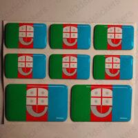 Pegatinas Liguria Italia Pegatina Bandera Adhesivo 3D Relieve Resina